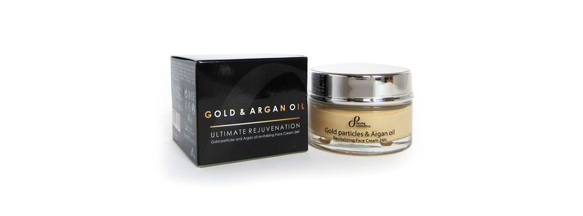 Gold & argan oil face cream